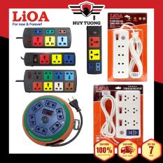 Ổ cắm có dây – Ổ điện an toàn – Ổ cắm điện đa năng – Ổ cắm điện Lioa ( 4 – 6 – 10 ổ cắm ) dây 5m và 3m Lioa – Huy Tưởng
