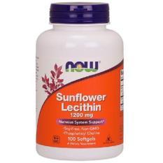 Chống tắc tia sữa now sunflower lecithin 100 viên nhập mỹ