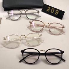 Gọng kính cận dáng mắt tròn siêu xinh 4 màu đen – trắng – hồng – ghi xám