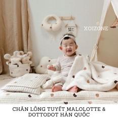 Chăn Lông Tuyết Malolotte & Dottodot Nội Địa Hàn Quốc