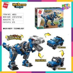 Bộ Đồ Chơi Xếp Hình Thông Minh Lego Qman 375 Mảnh Ghép Khủng Long Biến Hình 4803 Cho Trẻ