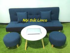 SF – Bộ sofa bed, sofa giường xanh viền đen bố 1m7x90, ghế sofa phòng khách, salon, sopha, sa lông, sô pha