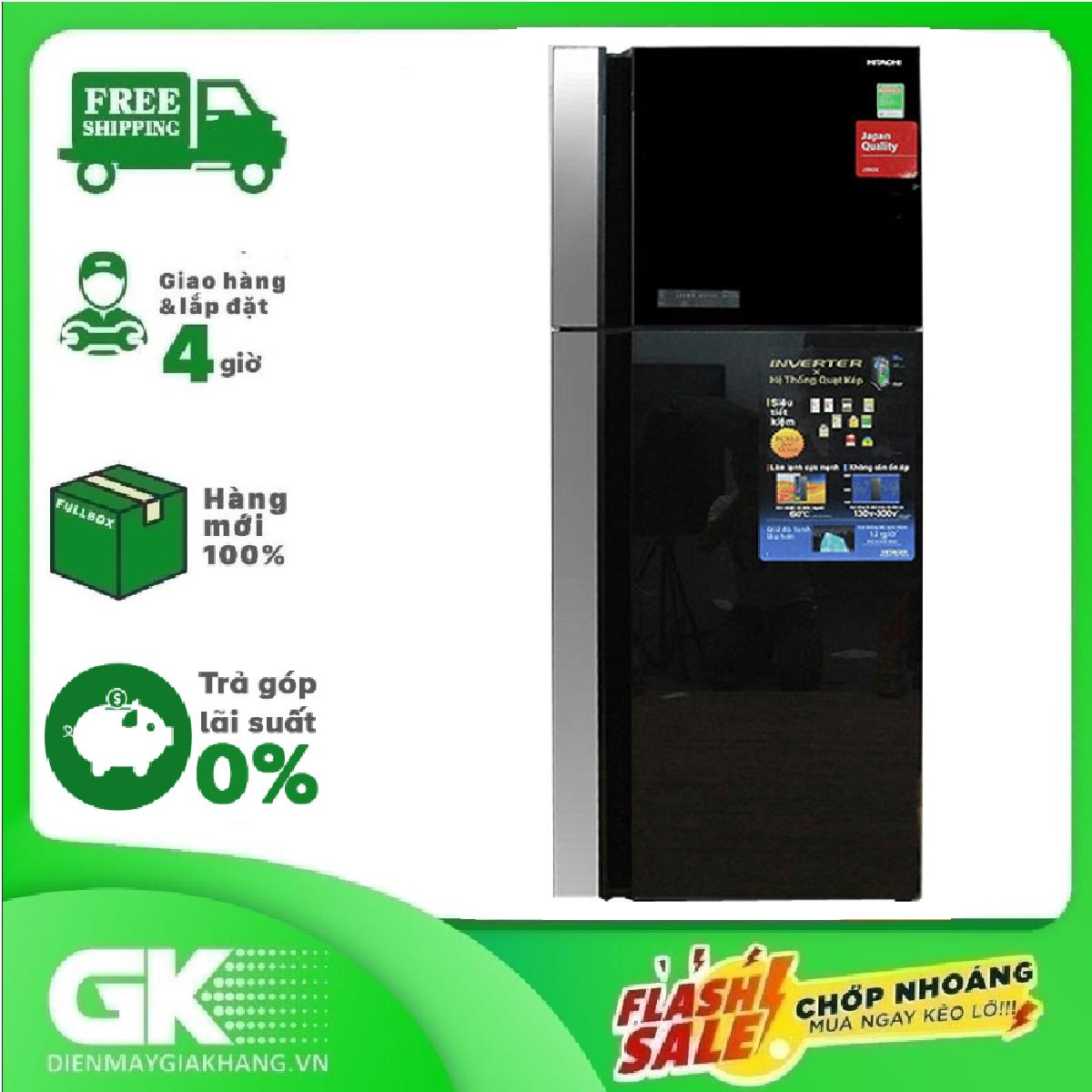[ SƯU TẬP VOUCHER 1000K] TRẢ GÓP 0% – Tủ lạnh Hitachi 450L R-FG560PGV8 (GBK) – Bảo hành 12 tháng