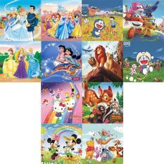 12 bộ tranh xếp hình 9 mảnh 15x15cm cho bé