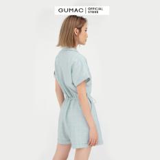 Jumpsuit ngắn nơ eo DB5114 GUMAC mẫu mới, thiết kế trẻ trung cá tính