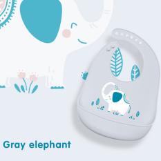 Yếm ăn dặm silicon cao cấp mềm mại có máng cho bé từ 6 tháng tuổi không bám bẩm có 6 nấc điều chỉnh kích cỡ tiện lợi BBShine – SS010