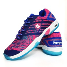 Giày cầu lông Kumpoo D52 màu hồng xanh, giày thể thao Kumpoo chuyên dụng cầu lông, bóng chuyền, bóng bàn đế kép, form ôm chân, chống lật cổ chân