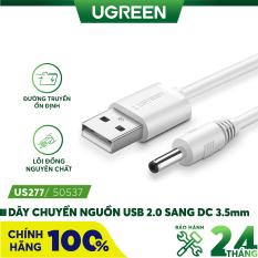 Dây nguồn 1 chiều USB 2.0 sang DC 3.5mm đầu đực dài 1m UGREEN US277