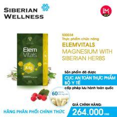 TPCN an thần và ngủ ngon giấc Elemvitals Magnesium with Siberian herbs (Siberian Health) – Hãng phân phối chính thức