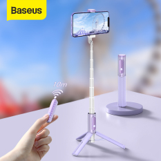 Baseus Mini Travel Bluetooth Selfie Stick for Live Streaming Portable Handheld Selfiestick For iPhone 12 11 Pro Xiaomi Samsung