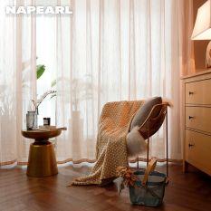 Napearl rèm vải tuyn sọc đơn giản phong cách mùa hè cho phòng ngủ 1pcs