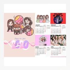 Lịch treo tường Blackpink Lisa Jisoo Jennie Rose size A4 13 tờ dễ thương 2020