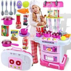 Bộ đồ chơi nấu ăn đa năng 3 in 1 Little chef, có âm thanh và ánh sáng