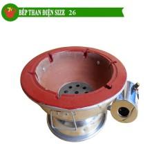 Bếp than hoa quạt điện size 26cm Trí Việt