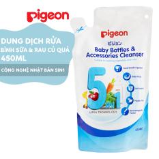 Dung dịch súc rửa Bình sữa và Rau củ quả Pigeon – túi 450ml