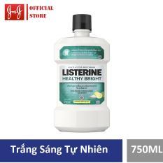 Nước súc miệng Listerine giúp răng trắng sáng Healthy bright 750ml – 100945468