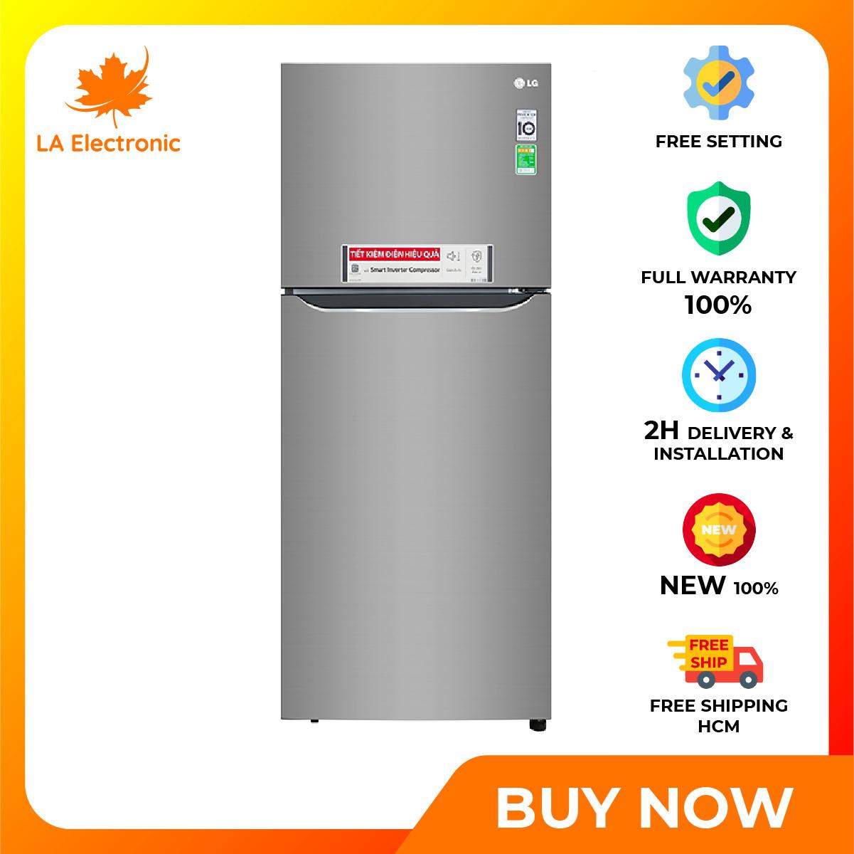 Tủ lạnh LG Inverter 393 lít GN-M422PS – Miễn phí vận chuyển HCM – Khay đá di động Ngăn kéo linh hoạt Chẩn đoán lỗi thông minh Smart Diagnosis, Ngăn rau củ cân bằng ẩm 2 chế độ Fresh Zone
