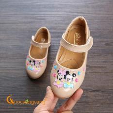 Giày bé gái micky mouse giày học sinh quai cài GLG109