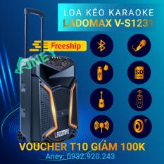 Loa kéo karaoke mini giá rẻ LADOMAX VS-1231, Loa kéo bluetooth hát karaoke gia đình âm thanh cực hay + Tặng micro