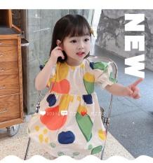 Váy cho bé gái dáng Baby doll sắc màu 8-22kg QATE679