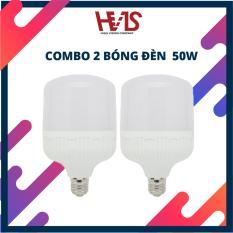 Bộ combo 2 Đèn led bulb thân trụ 50W E27 siêu sáng tiết kiệm điện
