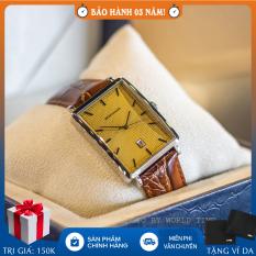 Đồng hồ nam Romanson DL5163NMWGD full hộp, thẻ bảo hành hãng, chống nước, dây da