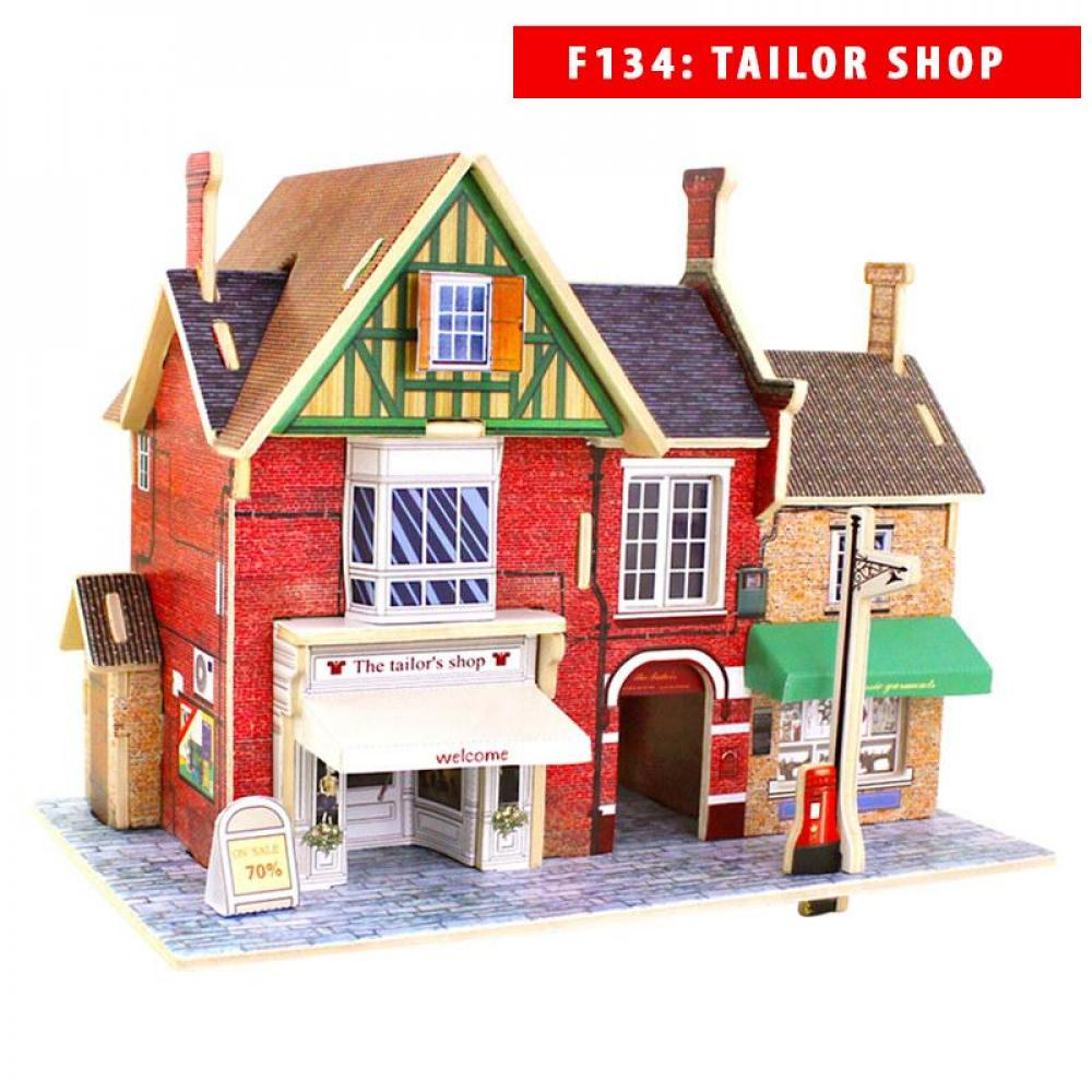 Mô hình nhà gỗ DIY Mẫu các công trình nhà nổi tiếng thế giới, chất liệu gỗ, lắp ghép theo...