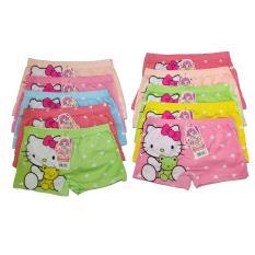 Sét 10 quần đùi in hình dễ thương cực đẹp cho bé gái – màu ngẫu nhiên