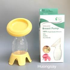 Cốc,phễu hứng chứa sữa mẹ silicon kèm nắp và chân đứng