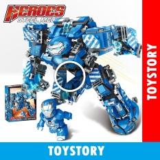 [ToyStory] Lego Marvel Lắp Ráp Xếp Ghép Hình Mô Hình Robot Hulkbuster Iron Man Xanh MK38 602 Khối LY76020 Trẻ Em Avengers