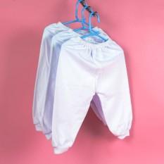 Set 5 quần dài trắng ống bo cotton cho bé 3- 26 ký