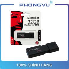 [Săn Voucher 7% max 500K] USB Kingston DT100G3 32GB/64GB/128GB – Bảo hành 5 năm