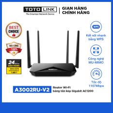 Router Wi-Fi băng tần kép Gigabit AC1200 – A3002RU-V2 – TOTOLINK – Hàng chính hãng