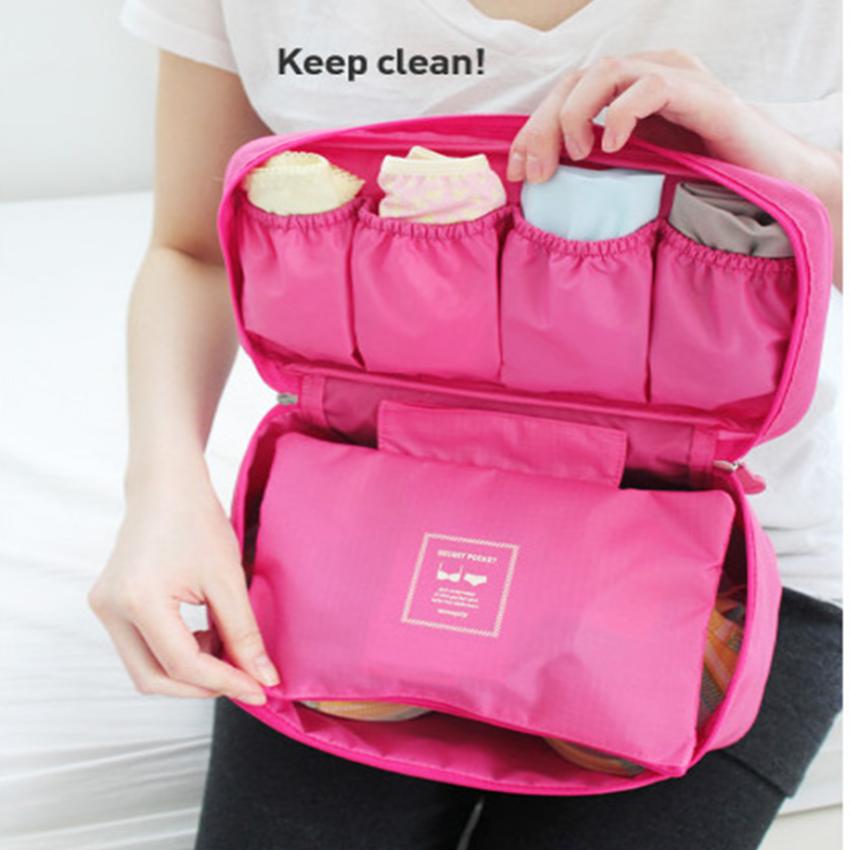 Túi đựng đồ lót du lịch cao cấp chống thấm oxford 205903 (màu hồng)