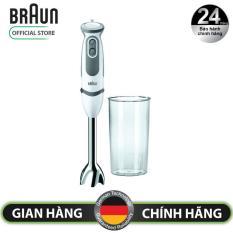 Máy xay cầm tay Braun MQ5000 – Chất lượng Đức – Dung tích 600ml – Công suất 750W – điều chỉnh với 21 tốc độ bằng bánh lăn, công nghệ Powerbell