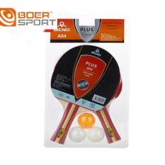 Bộ 2 vợt bóng bàn Boer A04 tặng kèm 3 bóng
