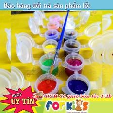 Màu Acrylic Loại Tốt Vẽ Trên Nhiều Loại Chất Liệu Chống Nước Bám Tốt Sét 12 Màu Cho Bé Tô Màu Sáng Tạo