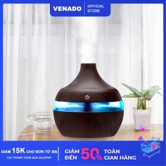 Máy phun sương tạo ẩm hình giọt nước vân gỗ 300ml Venado Phun sương nano giúp hạn chế khô da