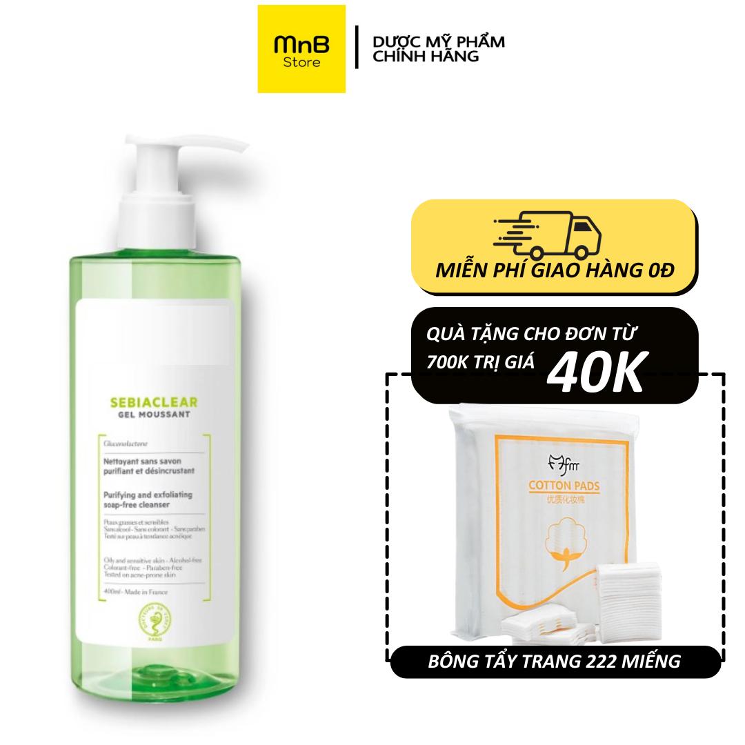 Sữa rửa mặt SVR Sebiaclear Gel Moussant cho da dầu mụn nhạy cảm 400ml – Hàng Chính Hãng Pháp