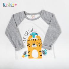 Áo thun dài tay Beddep Kids Clothes in hình cho bé trai từ 1 đến 8 tuổi B14