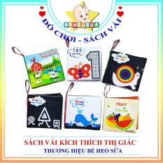 Combo 6 cuốn sách vải kích thích thị giác song ngữ Anh Việt cho bé