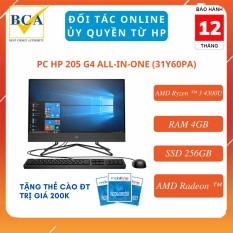 Máy tính để bàn HP 205 G4 All-in-One (Windows 10/ RAM 4GB/ SSD 256GB/ AMD Radeon ™) – 31Z16PA