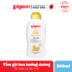 Tắm gội dịu nhẹ Pigeon 200ml Hoa Hướng Dương