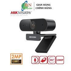 Webcam Hikvision DS-U02 1080P cho máy tính chính hãng cực nét, hỗ trợ dạy và học trực tuyến cắm cổng usb kèm mic