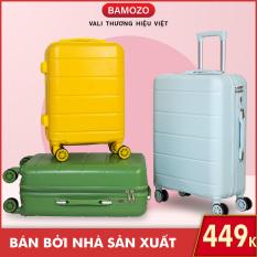 Vali du lịch BAMOZO DORIS vali kéo nhựa size 20inch/24inch- Bảo hành 5 năm