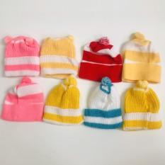 Set 2 nón len sơ sinh giữ ấm cho bé/ mũ len trùm đầu cho bé yêu – BEEKIDS PLAZA