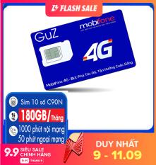 Sim 4G 10 số Mobifone C90N Mỗi tháng Tặng 180GB +Miễn phí gọi nội mạng + 50p gọi ngoại mạng