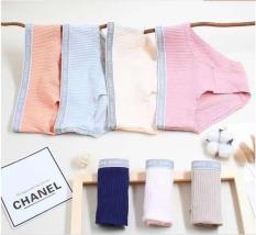 Quần cotton sọc lucky 769 – quần lót cotton sọc màu trơn – peonyladyshop