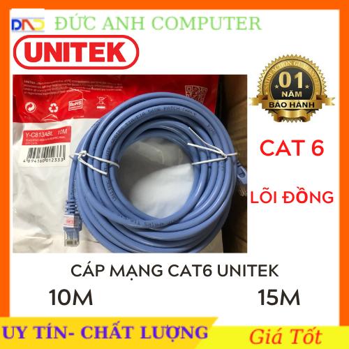 Cáp mạng Cat6 Unitek YC814ABL – 10m 15m cáp mạng đúc 2 đầu chống nhiễu BH 12 tháng cam kết sản phẩm đúng mô tả chất lượng đảm bảo