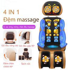 Đệm massage máy mát xa ghế mát xa ccor vai gáy lưng chân đệm massage đa chức năng dùng cho gia đình